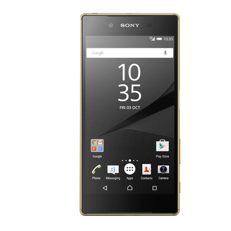 """Smartphone Sony Xperia Z5 com 32GB, Dual Chip, Câmera de 23 MP, Câmera para Selfie 5 MP, Vídeos em 4K, 4G, Processador Octa Core, Resistênte à água e poeira, NFC , Tela de 5.2"""" - E-6689, Dourado"""