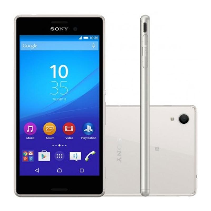 """Smartphone Sony Xperia M4 Aqua com 16GB, Dual chip, Câmera de 13.0 MP, 4G, Processador Octa Core, Resistênte à água e poeira, NFC , Tela de 5.0"""" - E-2333, Prata"""