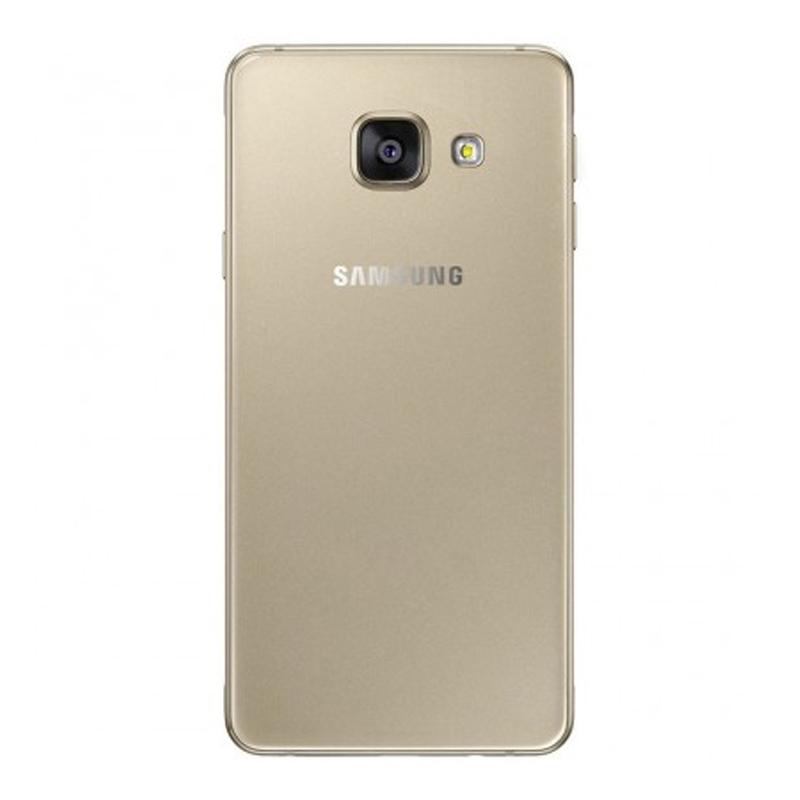 """Smartphone Samsung Galaxy A3 2016 Duos  com 16G, Dual Chip, 4G, Câmera de 13.0 MP, Selfie de 5.0, Tela Super AMOLED 4.7"""" - A310F, Dourado *"""