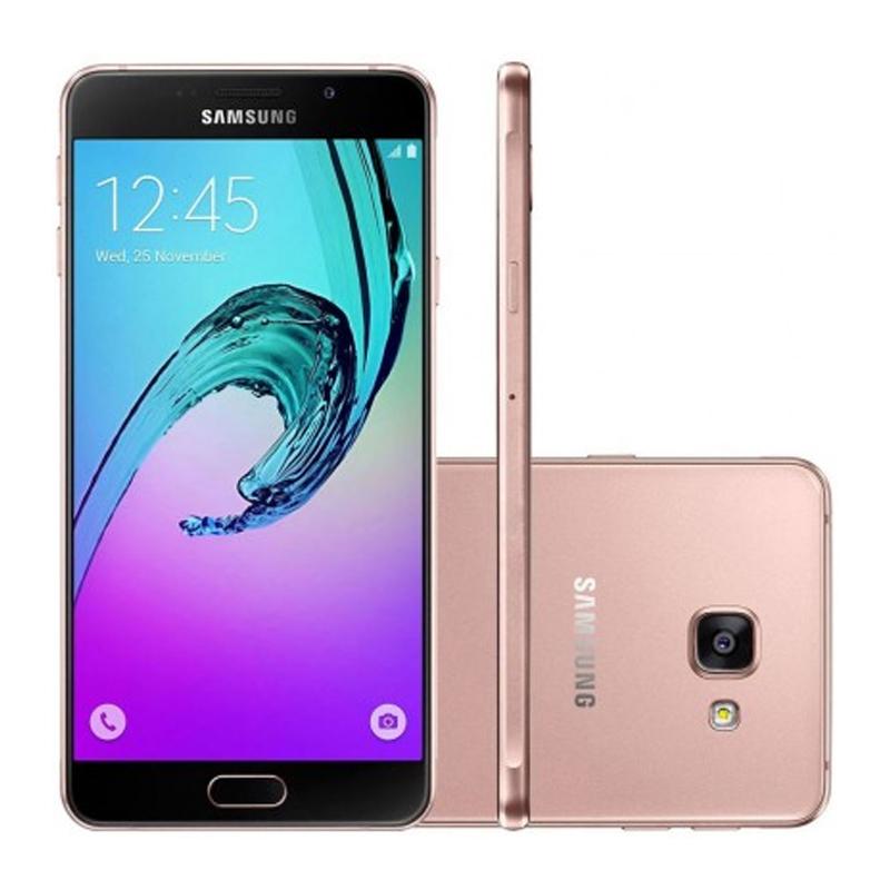 """Smartphone Samsung Galaxy A3 2016 Duos  com 16G, Dual Chip, 4G, Câmera de 13.0 MP, Selfie de 5.0, Tela Super AMOLED 4.7"""" - A310F, Rosa *"""