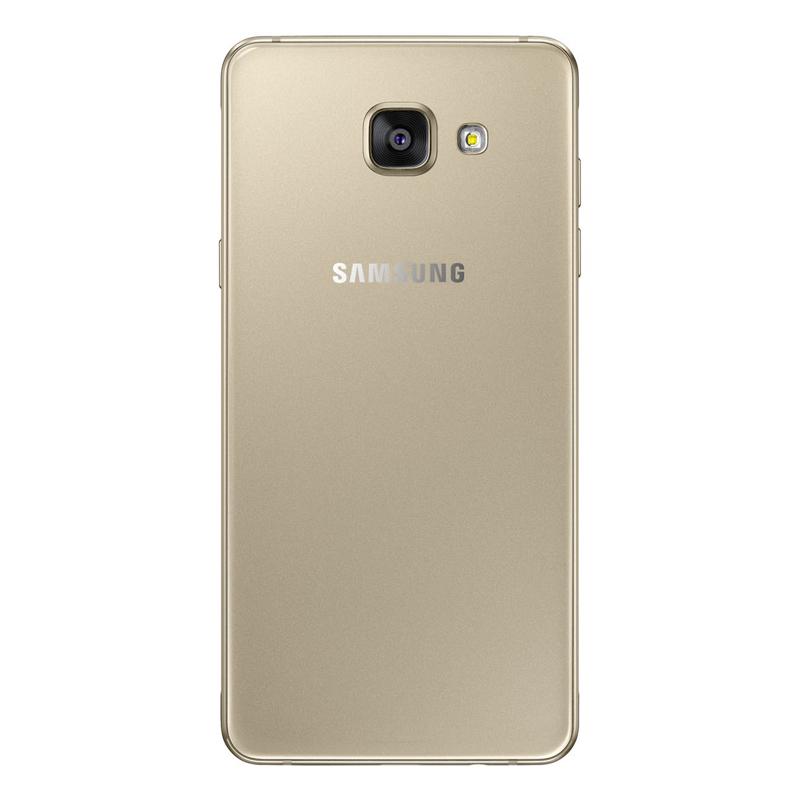 """Smartphone Samsung Galaxy A5 2016 Duos com 16G, Dual Chip, 4G, Processador Octa Core, Câmera de 13.0 MP, Selfie de 5.0, Tela Super AMOLED 5.2"""" - A510M, Dourado *"""