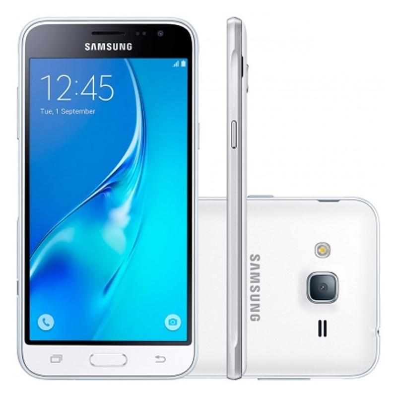 Smartphone Samsung Galaxy J3 Duos com 8G, Dual Chip, Selfie 5.0 MP, Reprodução em HD, Tela Super AMOLED 5.0