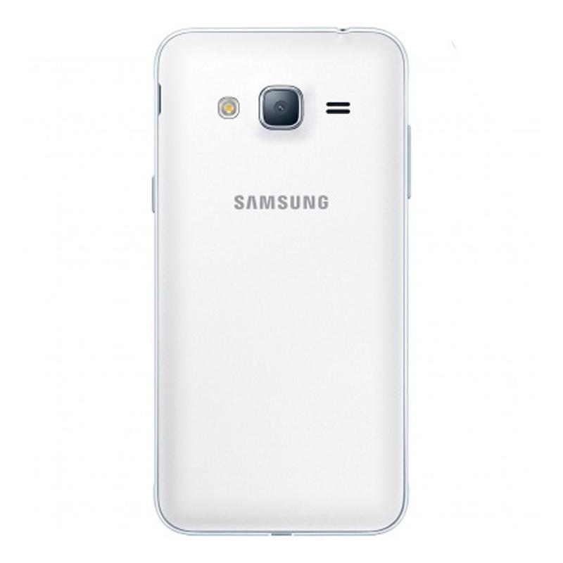 """Smartphone Samsung Galaxy J3 Duos com 8G, Dual Chip, Selfie 5.0 MP, Reprodução em HD, Tela Super AMOLED 5.0"""" - J320H, Branco *"""
