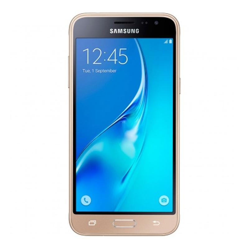 """Smartphone Samsung Galaxy J3 Duos com 8G, Dual Chip, Selfie 5.0 MP, Reprodução em HD, Tela Super AMOLED 5.0"""" - J320H, Dourado *"""