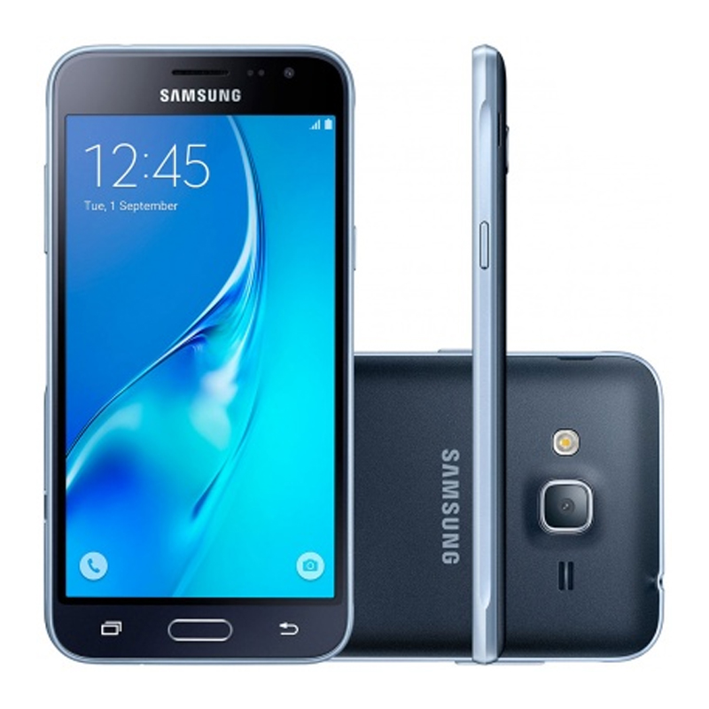 """Smartphone Samsung Galaxy J3 2016 Duos com 8G, Dual Chip, 4G, Selfie 5.0 MP, Reprodução em HD, Tela Super AMOLED 5.0"""" - J320M, Preto *"""