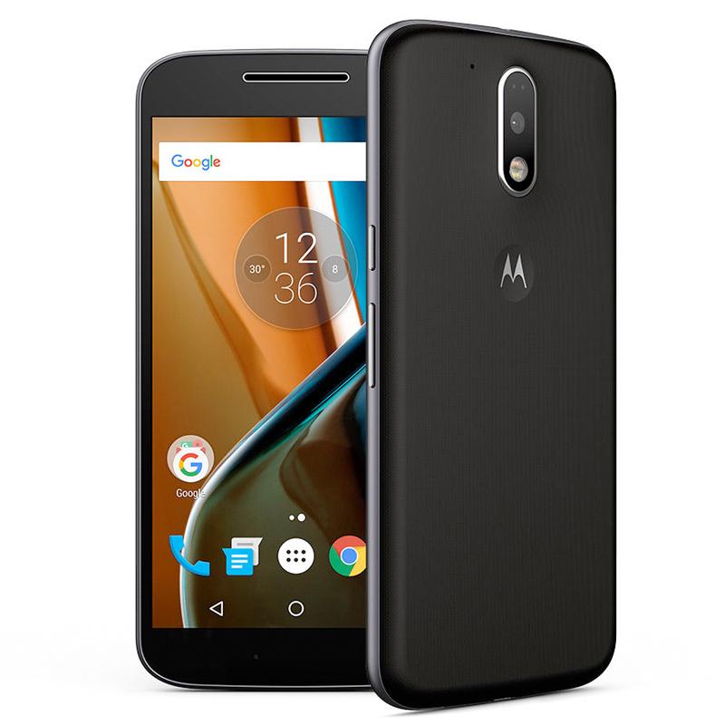 Smartphone Motorola Moto G4 com 16GB, Processador Octa Core, 4G, Resistente à água, Câmera de 12.8MP - XT1621, Preto *