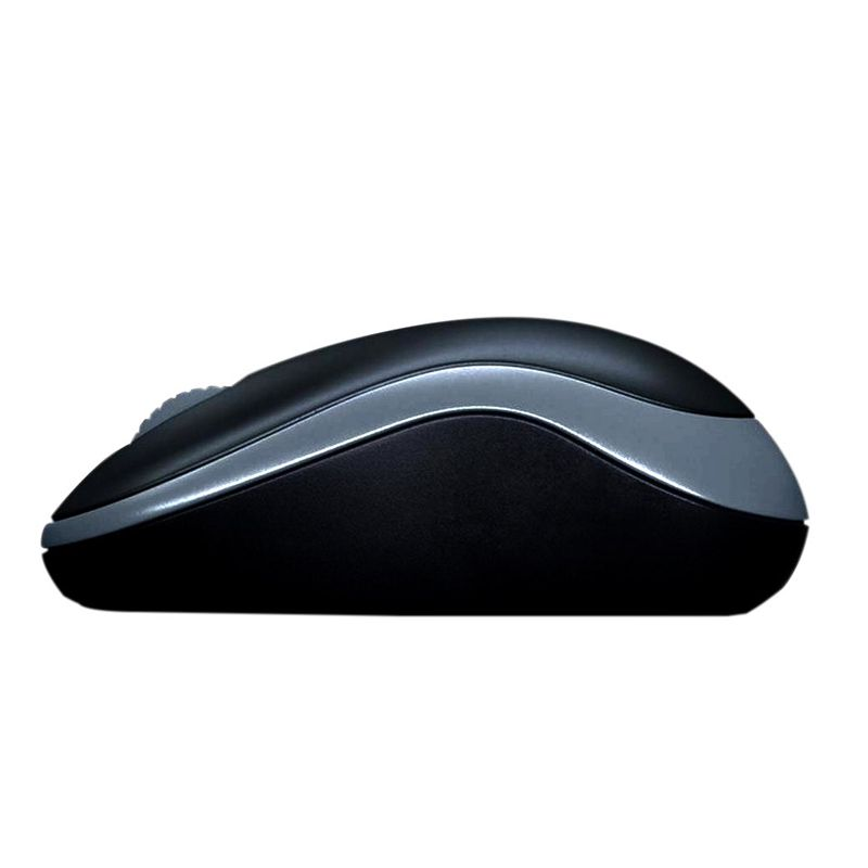 Mouse Logitech -  Wireless, Óptico - M185 Cinza *