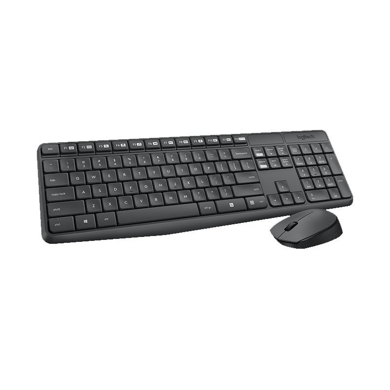 Kit Teclado + Mouse Logitec - Ajustável, Wireless, USB RC - MK270 Preto  *