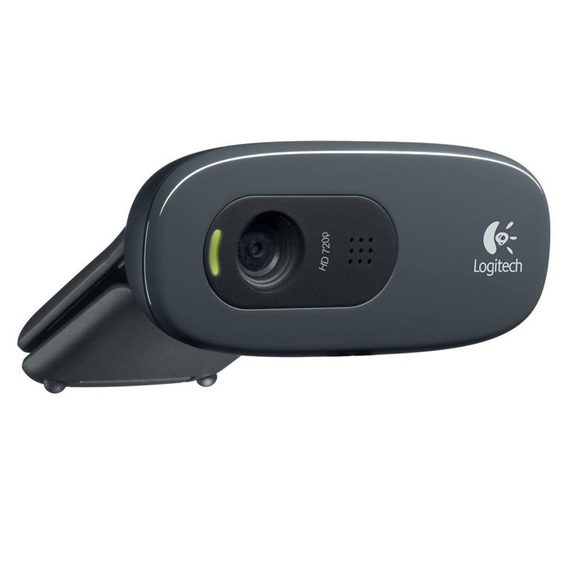Webcam Logitech -  Microfone Embutido, HD, USB - C270 *