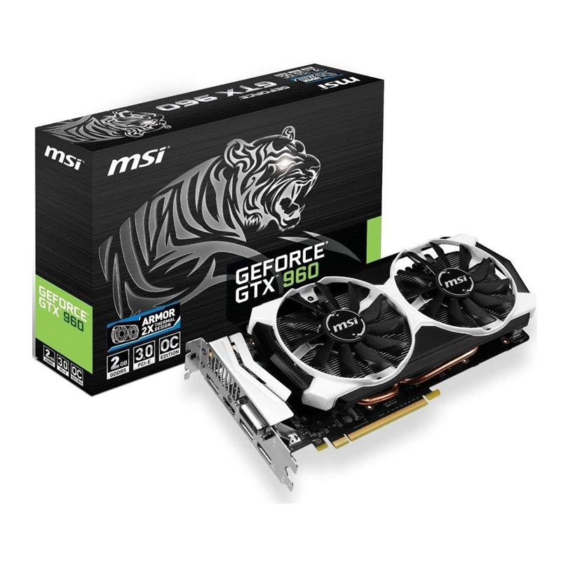 Placa de Video MSI NVIDIA GeForce GTX 960 ARMOR - 2GB, 128 BITS GDDR5 - 960-2GD5T-OC