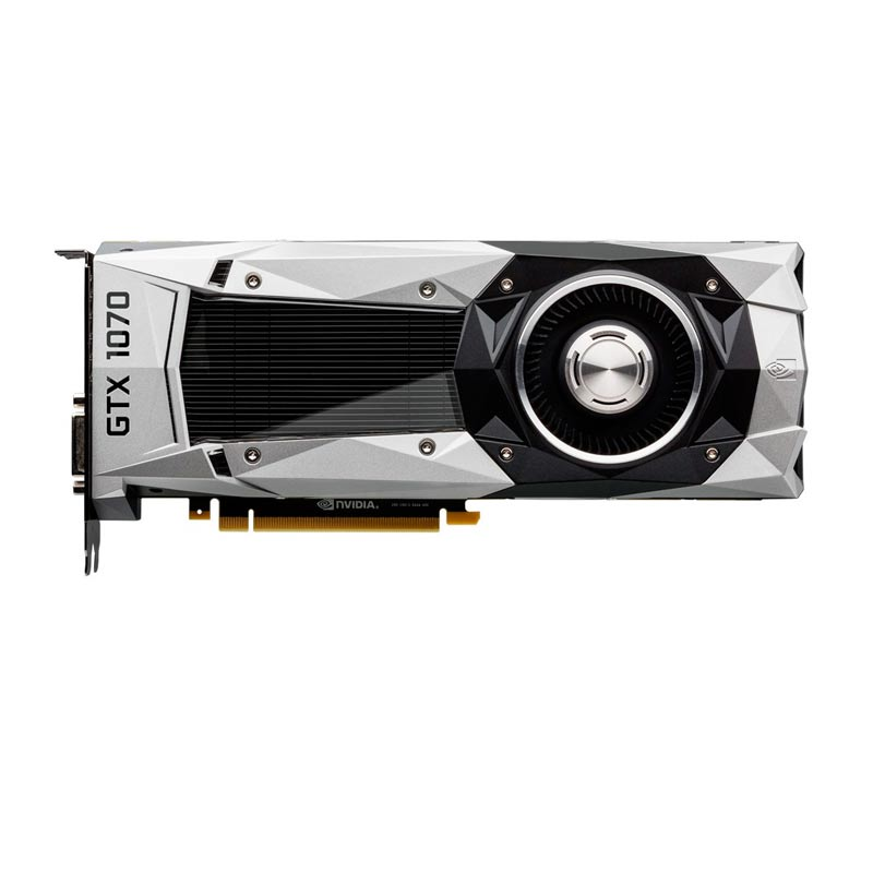 Placa de Video MSI NVIDIA GeForce  GTX1070 FOUNDERS EDITION - 8GB, 256 BITS GDDR5 - 08G-P4-6170-KR