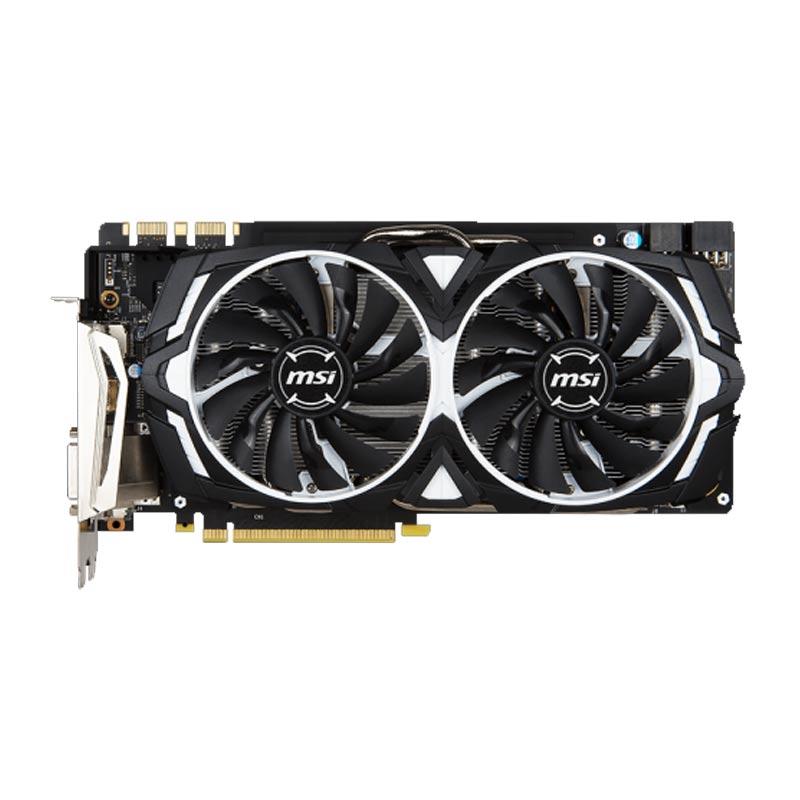 Placa de Video MSI NVIDIA GeForce  GTX1080 ARMOR - Compatível 4k, 8GB, 256 BITS GDDR5X - GTX1080ARMOR8GOC