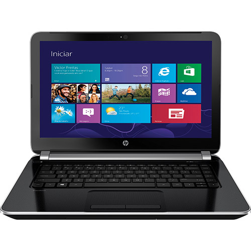 Notebook HP Pavilion 14-N050BR - Intel Core i7, 8GB de Memória, Placa de Vídeo Dedicada de 2GB, HD de 500GB, Beats Audio, Windows 8.1, Tela LED de 14 (seminovo)