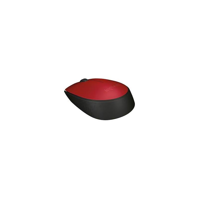 Mouse Logitech - Wireless, Óptico - M170 Vermelho *