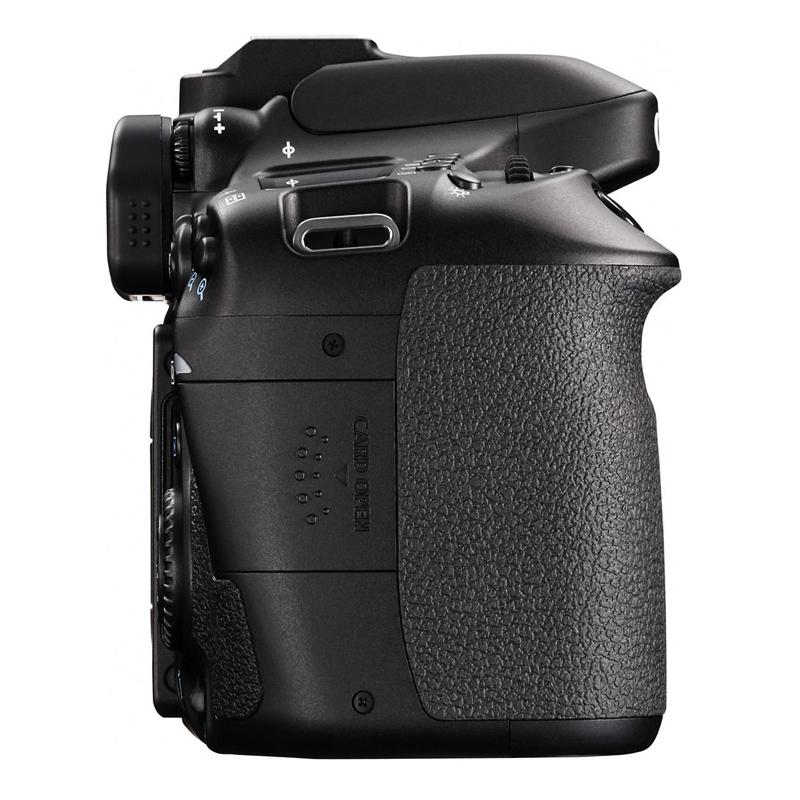 Câmera Digital Canon Rebel EOS-80D + Lente 18-55mm - 24.2MP, Dual Pixel CMOS, DIGIC 6, Frames 7 fps, Wifi/NFC, Vídeo Full HD, Tela Rotativa 3