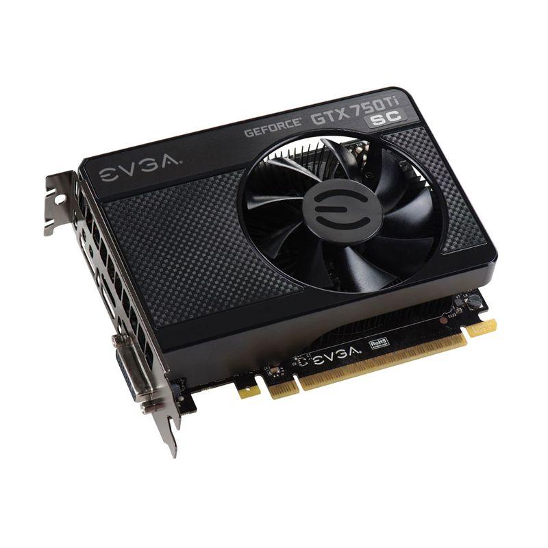 Placa de Video EVGA GeForce GTX750TI - Base Clock 1176Mhz, 1GB, DDR5 128 BITS - 01G-P4-3752-KR *