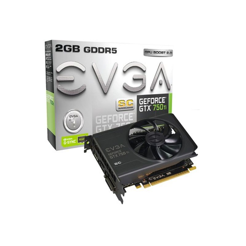 Placa de Video EVGA GeForce GTX750TI 2GB - Base Clock 1176Mhz, 2GB, DDR5 128 BITS - 02G-P4-3753-KR *