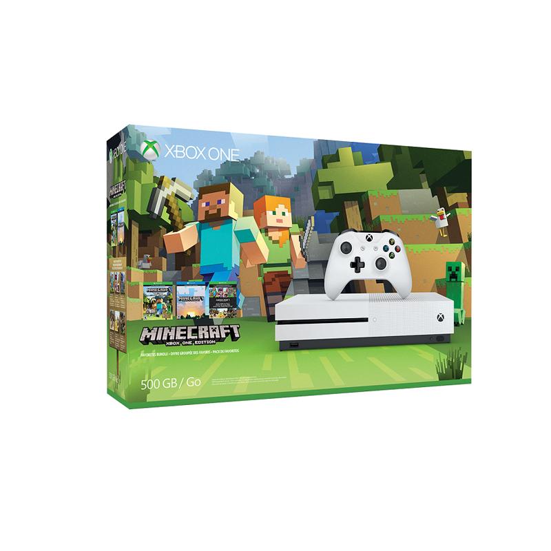 Console Xbox One Slim Edição Exclusiva Minecraft - 500GB, Compatível 4k, Controle Wireless, Cabo HDMI + Jogo Minecraft *