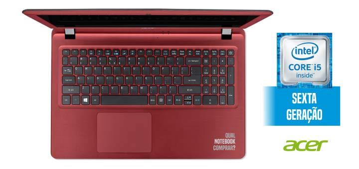 """Notebook Acer Aspire ES1-572 com Intel Core i5 , 4GB de Memória, HD de 1TB, Leitor de Cartões, HDMI, Tela LED de 15.6""""  (showroom)"""