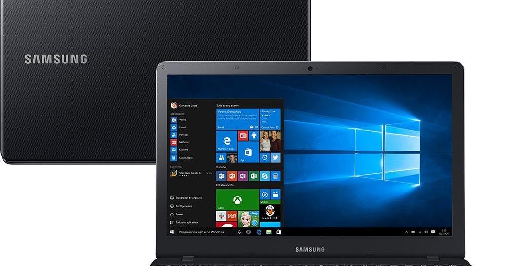 """Notebook Samsung Expert X19 NP300  Intel Core i5 5200, 4GB de Memória, HD de 500GB, Placa de Video Intel Graphics, HDMI, Teclado numérico, Windows 10, Tela LED de 15.6"""" Full HD"""