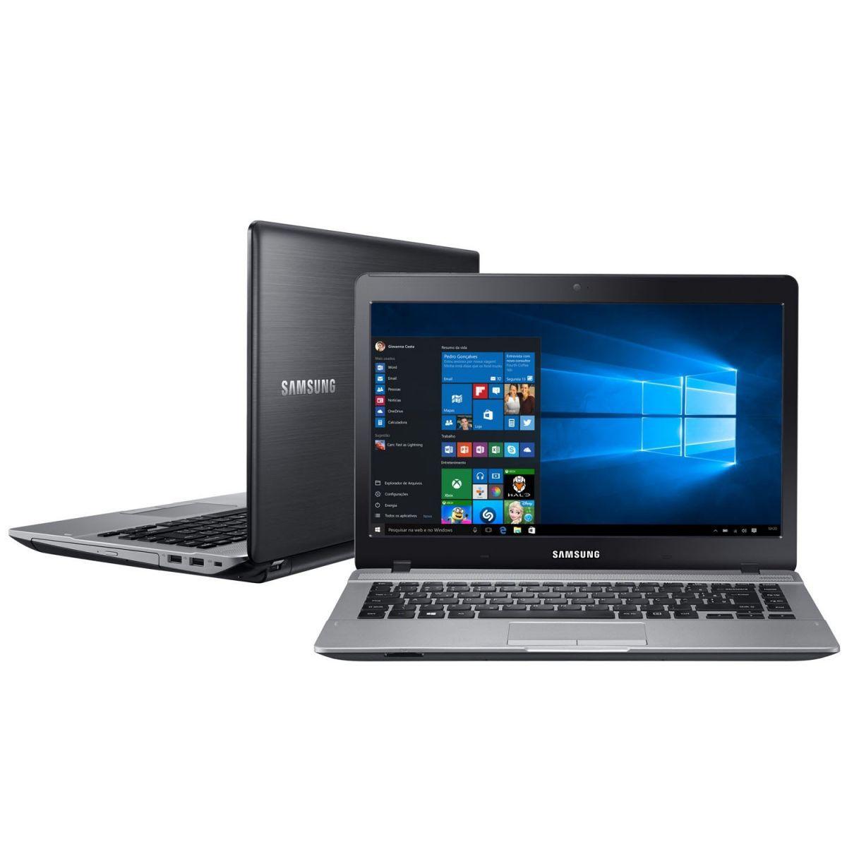 """Notebook Samsung Essentials E31 NP370E4K - Intel Core i3 , 4GB de Memória, HD de 1TB, Bluetooth, HDMI, Tela LED de 14"""" Windows 10 (showroom)"""