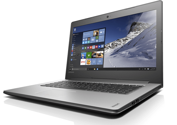 "Notebook Lenovo Ideapad Intel Core i7-6200U 6º Geração, 8GB de Memória, HD de 1TB, Wifi- ac, Tela LED de 14"" , Windows 10 - 310, Prata"