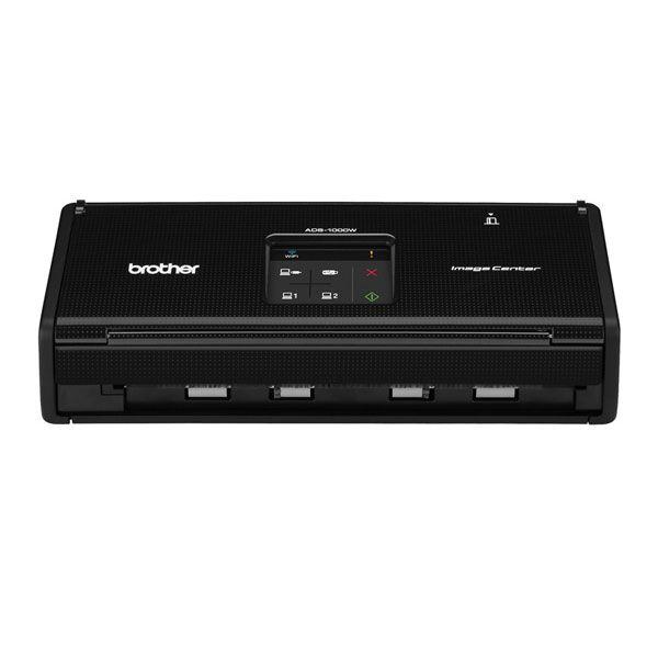 Scanner Compacto Brother ADS1000W - Ótica de 600dpi, 500 pág. diario, Duplex, WiFi