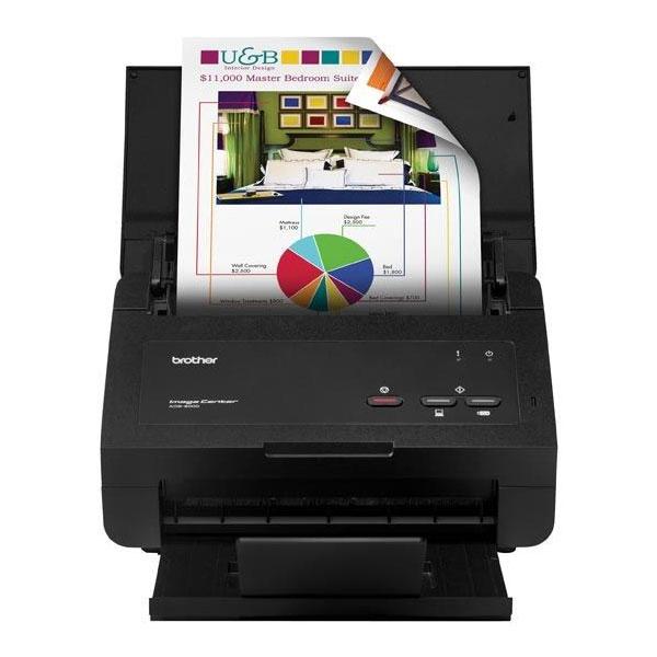 Scanner Brother - Ótica de 600dpi, Velocidade 48ipm, Duplex, WiFi - ADS2000e *