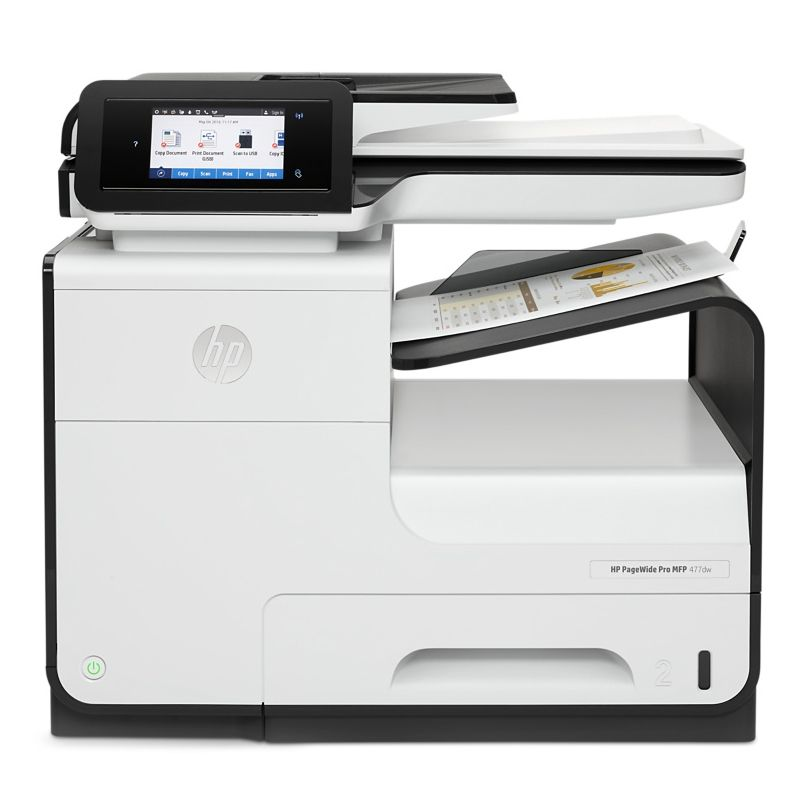 Impressora Multifuncional HP PageWide Pro MFP 477dw, imprime até 50.000 páginas/mês, Copiadora, Digitalizadora, Fax, Wireless, USB *