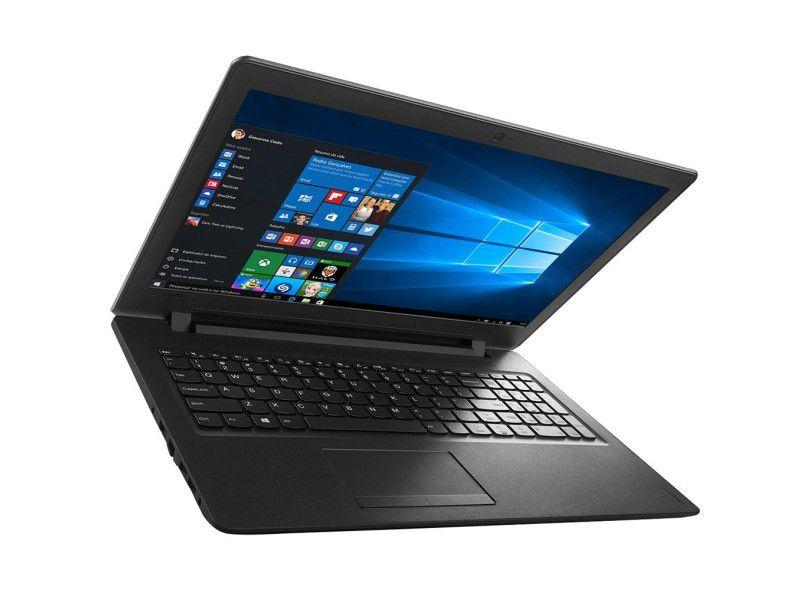 "Notebook Lenovo IdeaPad 110 com Intel  Dual Core, 4GB de Memória, HD de 500GB,  Tela LED de 15.6"", Windows 10 *"