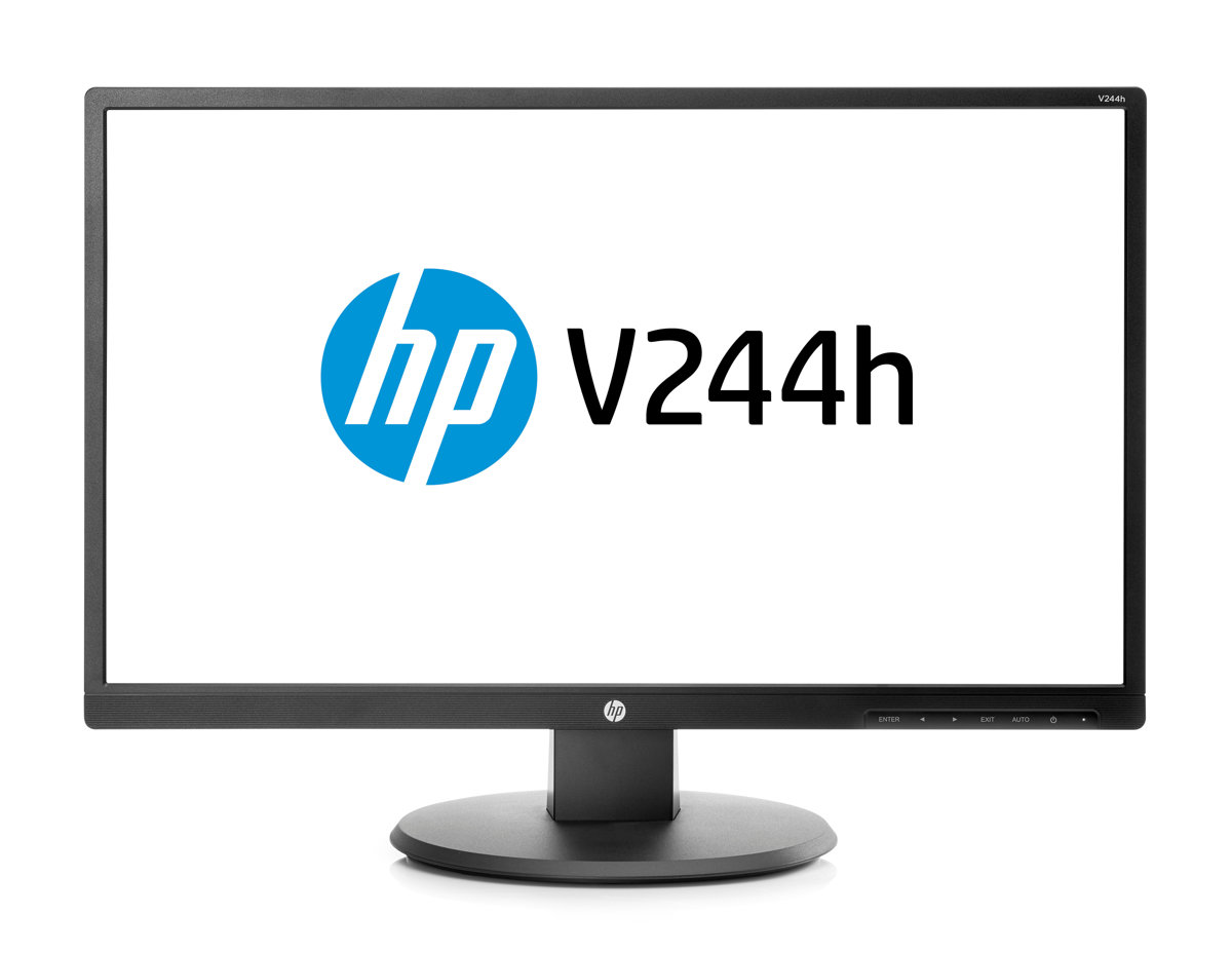 "Monitor HP 23.4"" FULL HD, HDMI, VGA - V244h *"