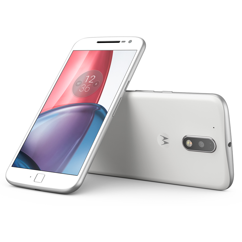 Smartphone Motorola Moto G4 Plus com 32GB, Leitor Biométrico, Câmera de 16MP com Foco Laser e PDAF, Octa Core, Resistente à água, Turbo Carregamento, 4G, Dual Chip - XT1642, Branco *