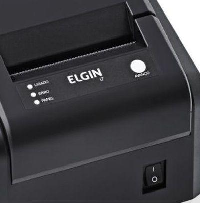 Impressora não Fiscal Elgin I7 c/ Serrilha + Linker S@T Fiscal Elgin *
