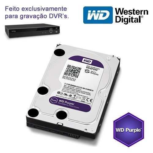 """HD para Desktop 4TB  Western Digital Purple - SATA 3, 5400RPM, 6GB/s, Buffer 64MB, 3.5"""" *"""
