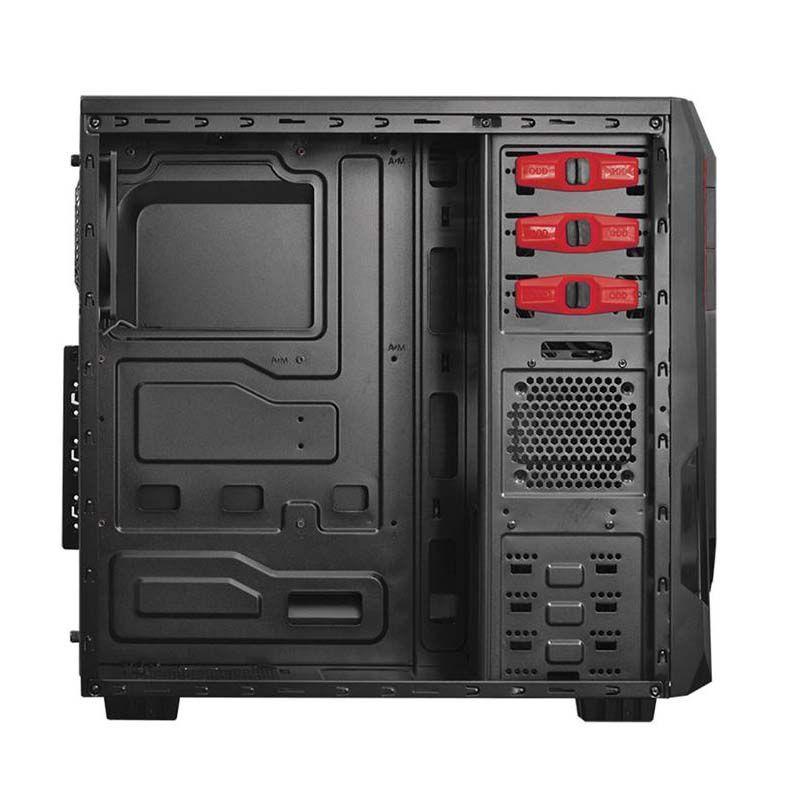 Computador Gamer JAVA FX-8320E com Processador Octa core, 8GB de memória, HD 1TB SATA 3, 500W real - Preto/Vermelho