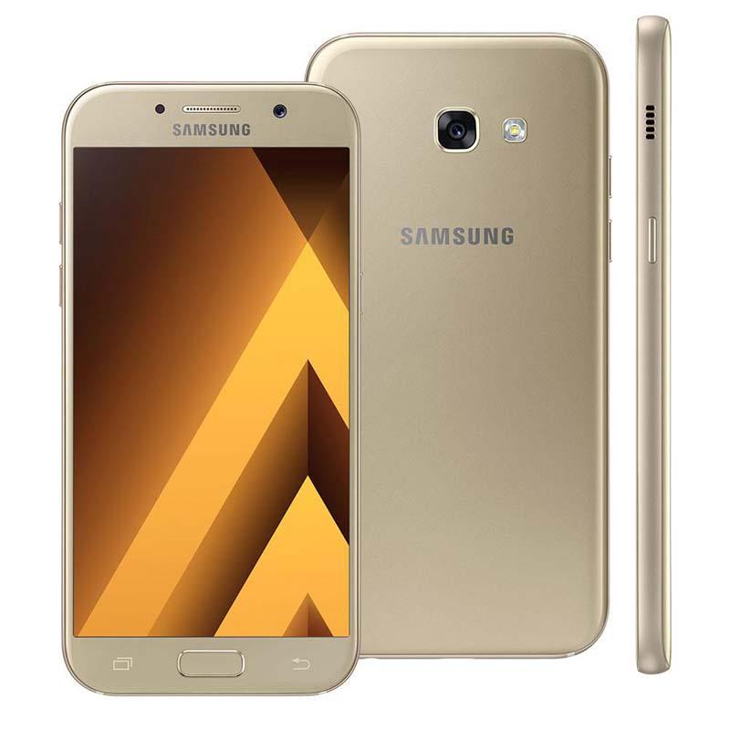 """Smartphone Samsung Galaxy A5 2017, 16 Megapixels, Memória de 32Gb,Processador Octa Core e Tela 5.2"""" - A520F/DS -  Gold/Dourado"""