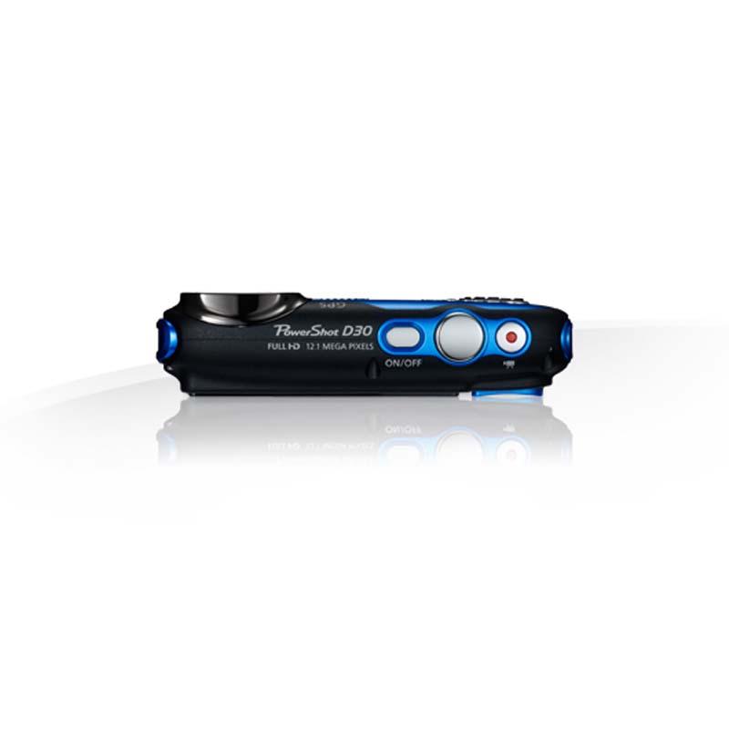 Câmera Digital Canon Powershot D30 HS com Sensor CMOS de 12,1 Megapixels, Zoom Óptico 5x, Processor DIGIC 4 IS, GPS, a Prova d'água e Queda *