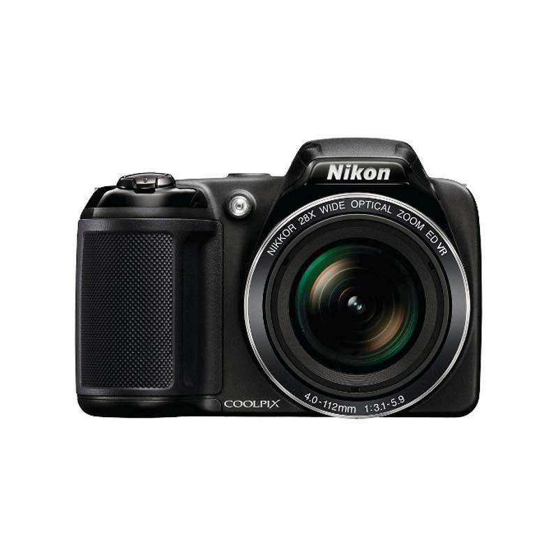 Câmera Nikon Coolpix L340 com Zoom Óptico 28x VR, Sensor CCD de 20.2 Megapixels, 3.2