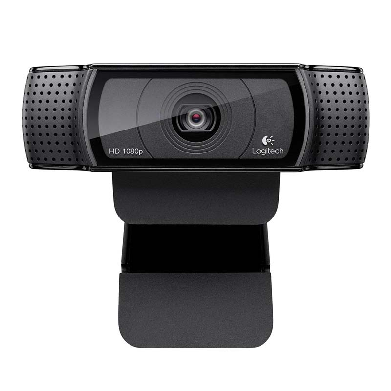 Webcam Logitech de 15MP, Full HD de 1080p, 2 Microfones, Foco Automático - C920