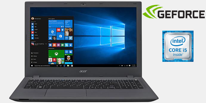 Notebook Acer com Intel Core i5 de 6ª Geração, 8GB de Memória, HD de 1TB, Placa de vídeo NVIDIA GeForce  2GB, Tela Full HD de 15.6