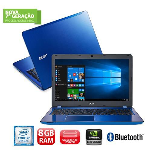 "Notebook Acer Aspire F5-573G - Intel Core i7 de 7ª Geração, 8GB de Memória, HD de 1TB, Placa de Vídeo GeForce 4GB, Gravador de DVD, LED 15,6"", Windows 10 (seminovo)"