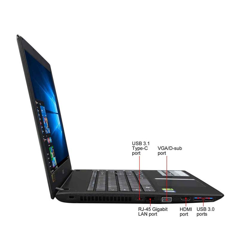 """Notebook Acer Aspire E5-575G - Intel Core i5 de 7ª Geração, 8GB de Memória, Placa de Vídeo GeForce 2GB, HD de 1TB, Tela Full HD de 15.6"""", Windows 10 - E5-575G-55KK"""