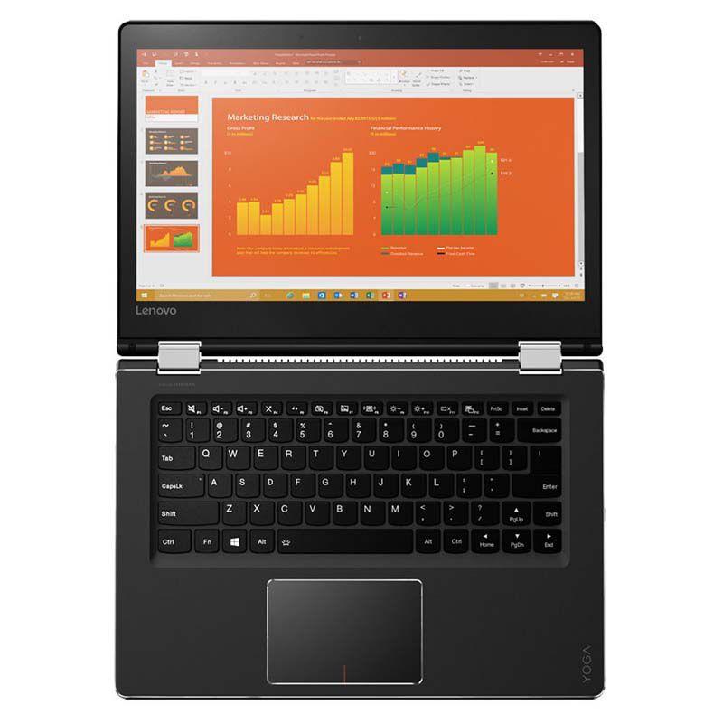 """Notebook 2 em 1 Lenovo Ultrabook Yoga 510 com Intel Core i5, 6ªGeração, 8Gb de Memória, HD de 1TB, Leitor de Cartões, HDMI, Wireless AC, Tela  14"""" Touchscreen, Windows 10 ( 510-14ISK Model: 80UK)"""