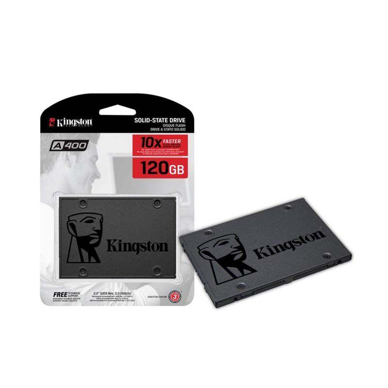 "SSD 120GB 2.5"" Kingston A400 - 500MBs/450MBs - SA400S37/120G"