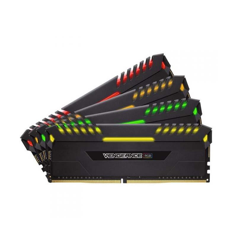 Memória DDR4 Corsair Vengeance RGB LED - 16GB (2x8), 2666Mhz - CMR16GX4M2A2666C16