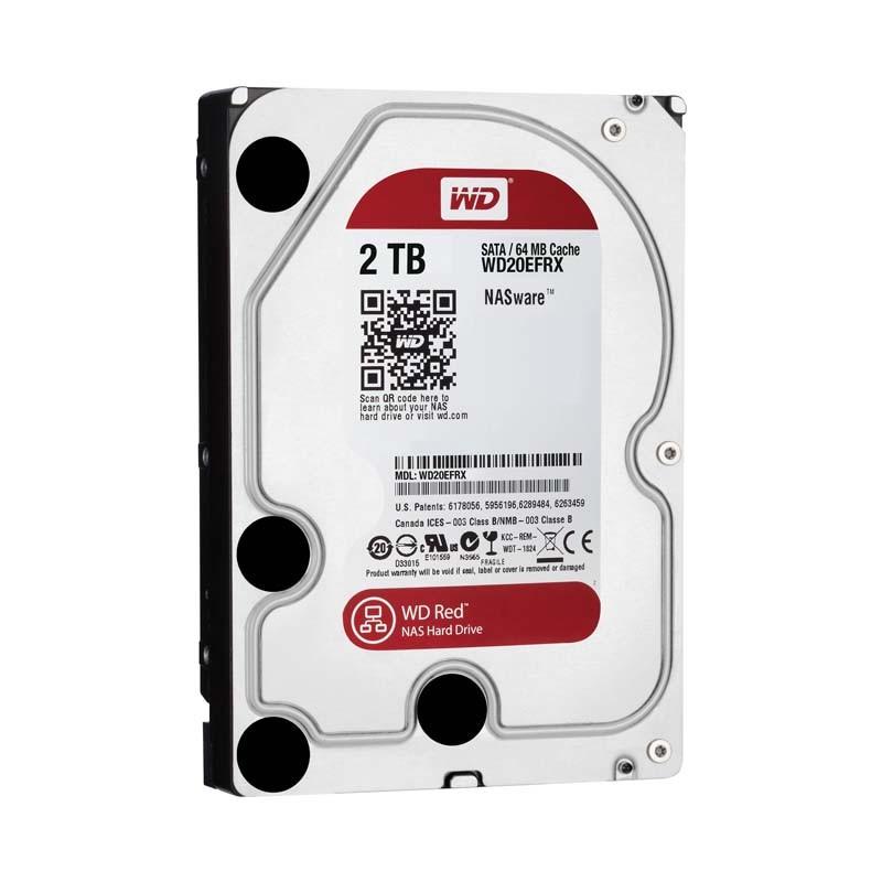 HD para Desktop 2TB Western Digital NAS RED - SATA 6Gb/s, 5400RPM, Cache 64MB - WD20EFRX