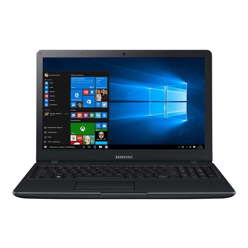 "Notebook Samsung E21, Intel Dual Core, 4Gb de Memória, HD de 500Gb, Tela FULL HD de 15.6"" - Windows 10 - NP300E5KKFABR"