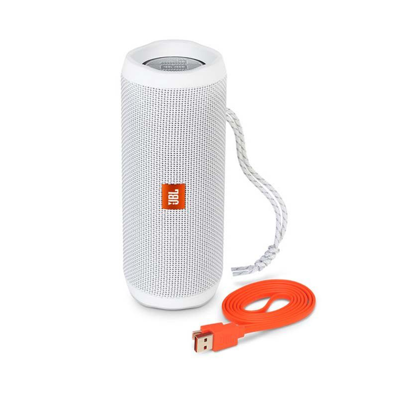 Caixa de Som JBL FLIP 4 - Portátil, Prova dàgua, Viva-voz, Wireless Bluetooth Streaming – Branco