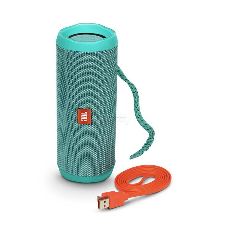 Caixa de Som JBL FLIP 4 - Portátil, Prova dàgua, Viva-voz, Wireless Bluetooth Streaming – Azul Piscina / TEAL