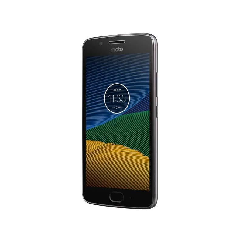 """Smartphone Motorola Moto G5 de 16GB, Dual chip, 4G, Tela de 5"""", Câmera de 13MP, Flash,Gravação de vídeo 1080p, Leitor biométrico - XT1677/XT1676, Platinum"""